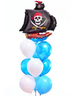 Букет из шаров «Пиратский корабль»