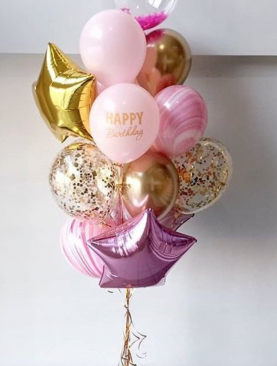 Букет из шаров «С Днём Рождения 3»
