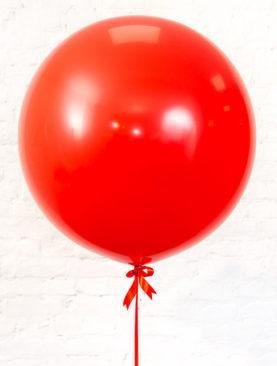 Шар гигант красного цвета