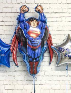 Набор из двух звезд с надписью и супермена