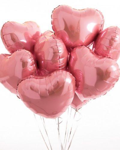 Воздушные шары сердца из фольги