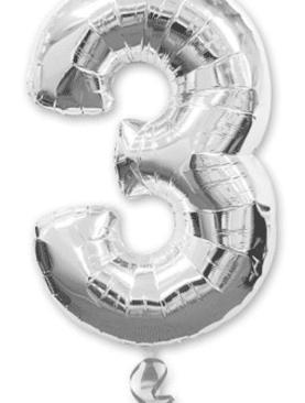 Серебряная цифра 3