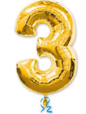 Золотая цифра 3