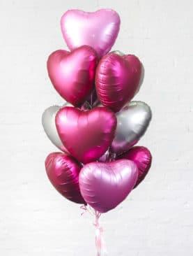 Набор из 15 фольгированных сердец