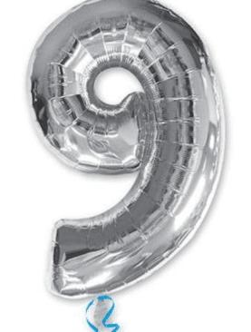 Серебряная цифра 9
