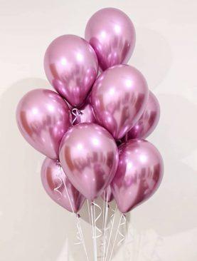 Розовые шарики хром